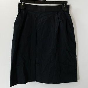 Kate Spade Black Bow Back A-line Skirt Size 0